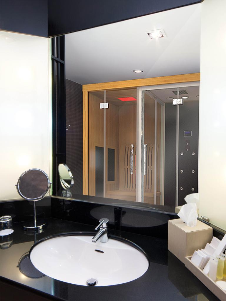 cabine sauna hammam combin. cheap luxe douche vapeur cabine combin